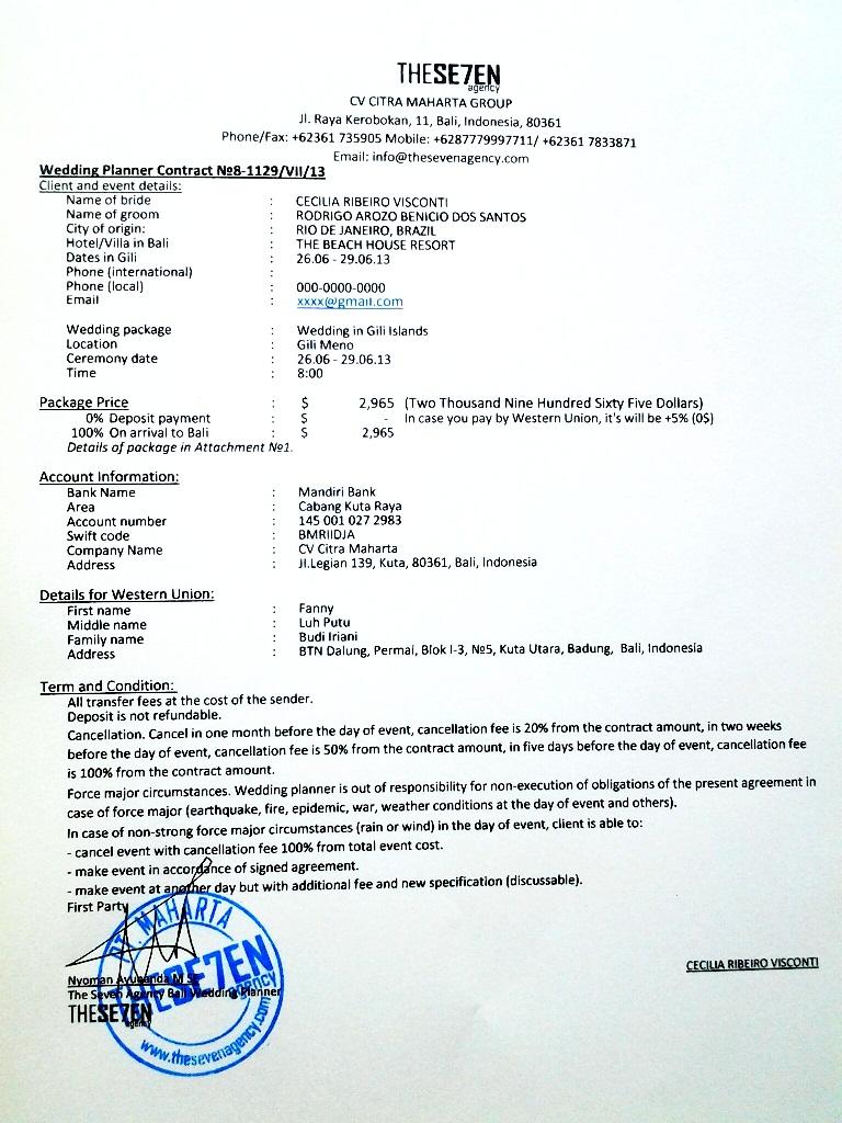 образец контракта фото